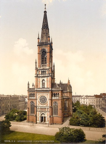 [Church St. Jean, Dusseldorf, the Rhine, Germany]