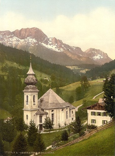 [Maria Gern, general view, Upper Bavaria, Germany]