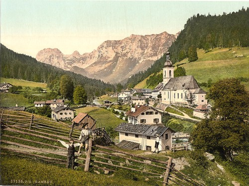 [Ramsau, general view, Upper Bavaria, Germany]