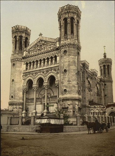 [Basilica Fourviere, main entrance, Lyons, France]
