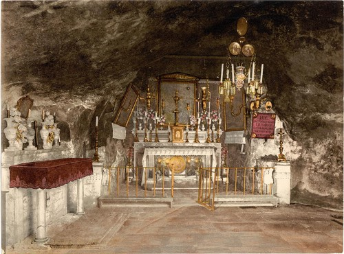 [Interior of the Grotto of the Agony, Jerusalem, Holy Land]