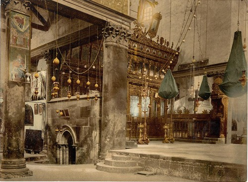 [Church of the nativity (interior), Bethlehem, Holy Land, (i.e., West Bank)]