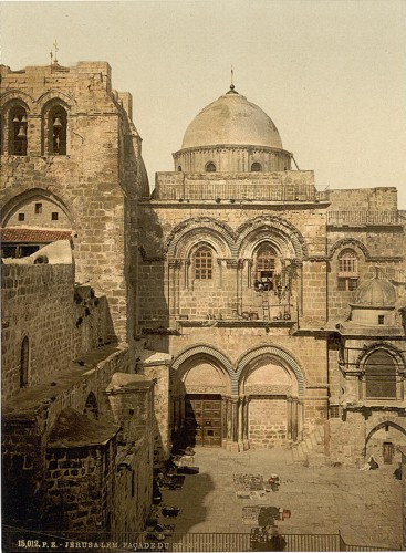 [The front of the Holy Sepulchre, Jerusalem, Holy Land]