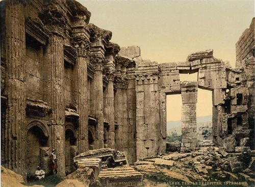 Temple of Jupiter, interior, Baalbek, Holy Land, (i.e., Ba'labakk, Lebanon)]