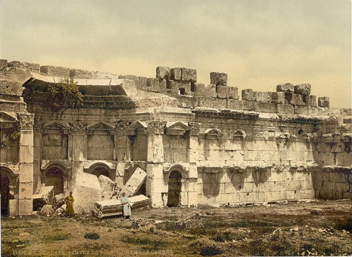 Temple of the Sun, square chamber, Baalbek, Holy Land,(i.e., Ba'labakk, Lebanon)]