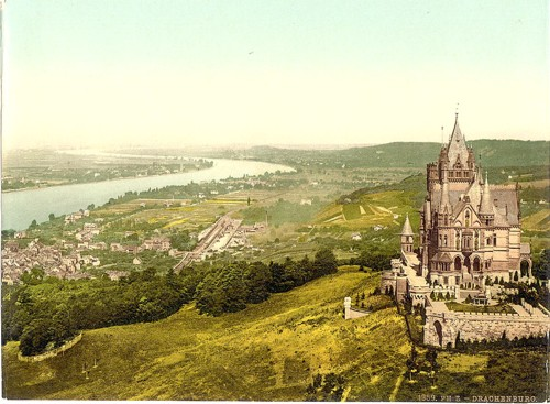 [Drachenburg and Konigswinter, the Rhine, Germany]