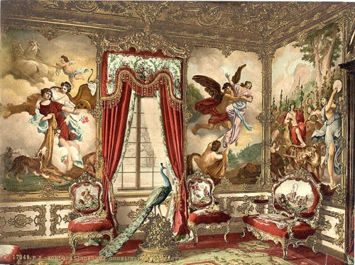 [The Gobelin Tapestries, Linderhof Castle, Upper Bavaria, Germany]