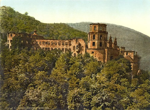 [The Castle, seen from the Terrace, Heidelberg, Baden, Germany]