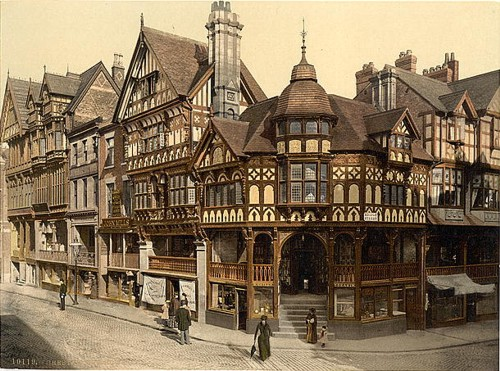 [The Cross and Rows, Chester, England]