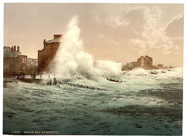 [Rough sea at Bognor]