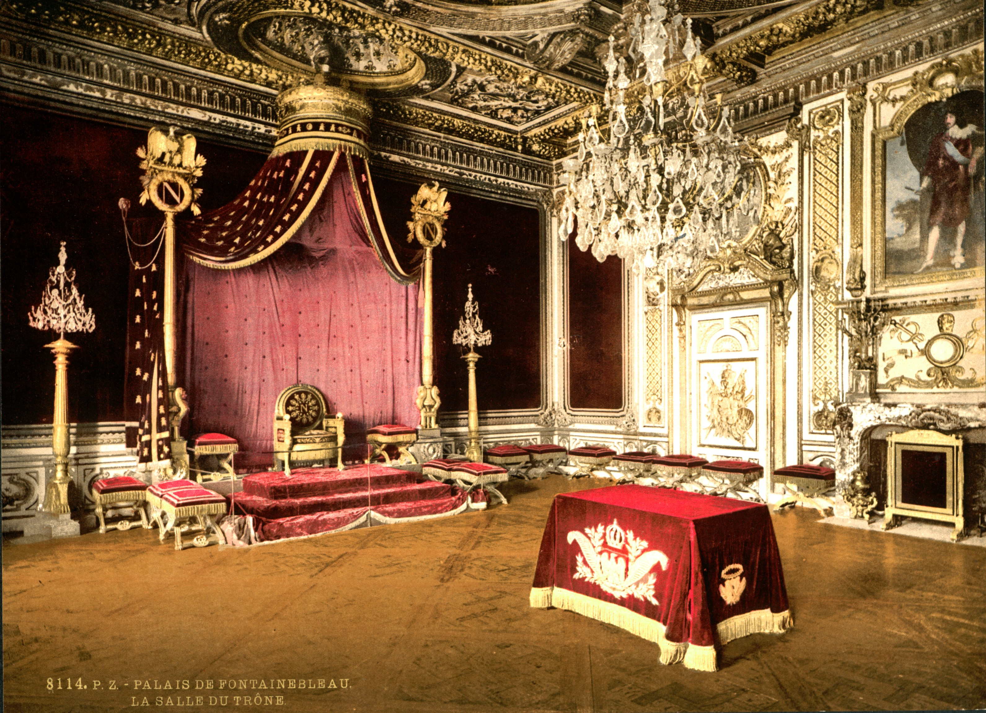 Www.historyfish.net Photochrom Collection Landscapes #C90216 3182 2302 Sala Da Pranzo Buckingham Palace