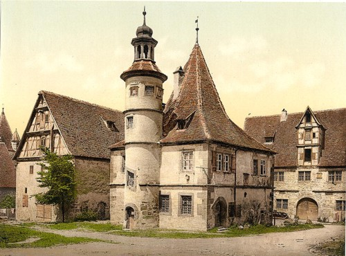 [Gamekeepers house (i.e.Hegereiterhaus), Rothenburg (i.e. ob der